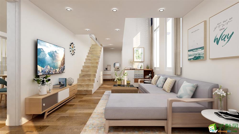 青岛116平米北欧风格两室两厅装修案例
