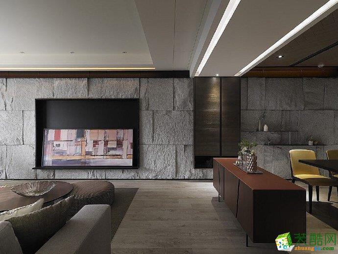 重庆110平米现代风格三室一厅装修案例图片