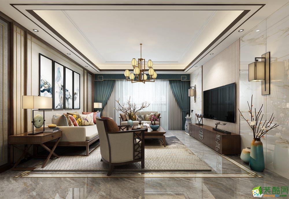 曲江香都140平米新中式风格装修案例分享