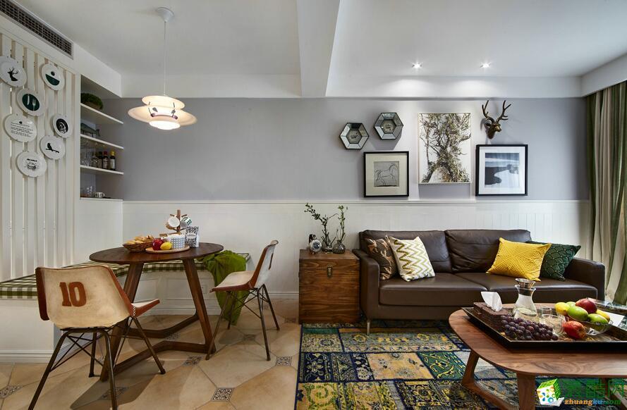 合景领峰110方三室一厅美式风格作品