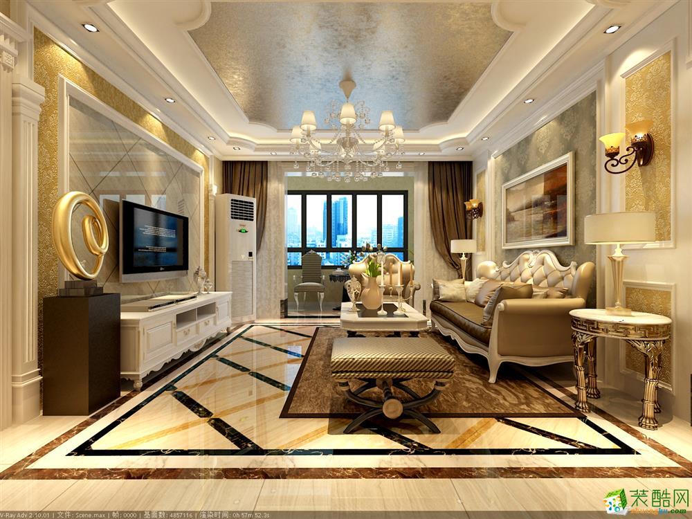 青岛117平米简欧风格三室两厅装修案例图片