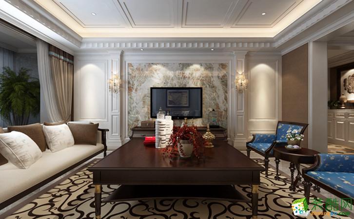 西安振业泊岸-180平米美式风格四室两厅两卫装修效果图片