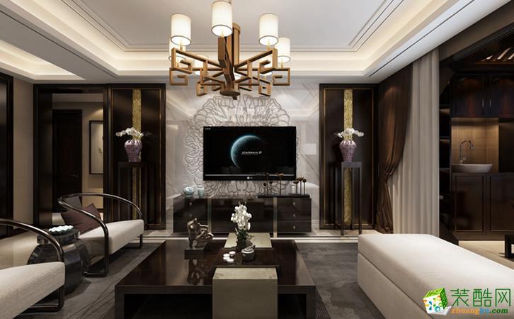 西安御锦城-140平米新中式风格三室两厅两卫装修效果图片