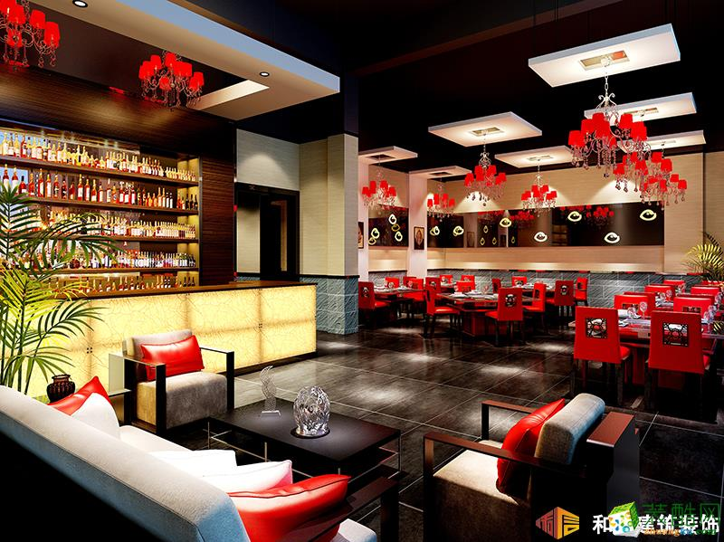 成都餐廳裝修設計公司-重慶醉魚頭火鍋