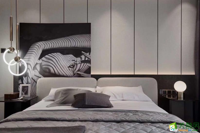 楚天都市朗园118�O现代风格装修设计效果图