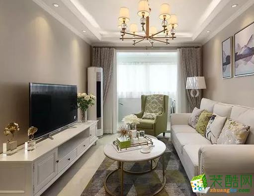 西安雅居樂湖居筆記-135平米簡約美式四室兩廳兩衛裝修效果圖片