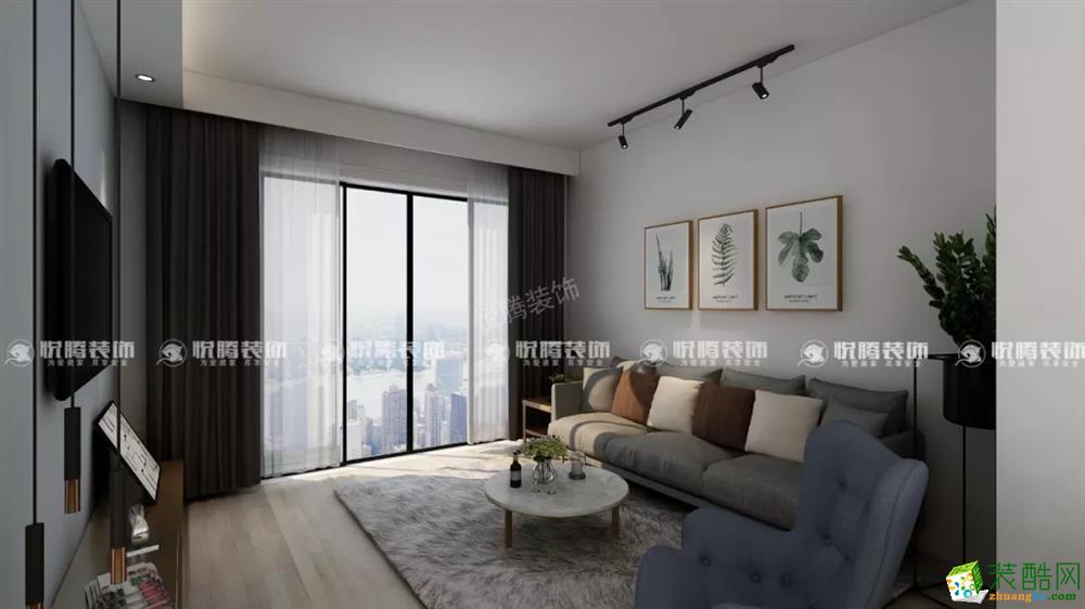 天湖相85�O两室一厅一卫简约风格设计案例