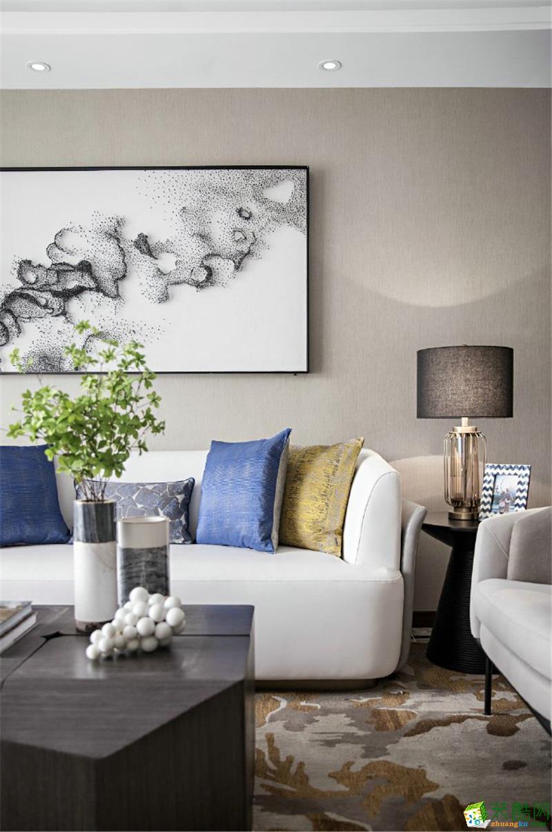 深圳三室两厅装修设计-110平米三居室现代风格装修案例图
