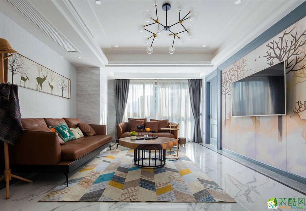 四室两厅装修案例-现代轻奢风140平,打造简洁之美