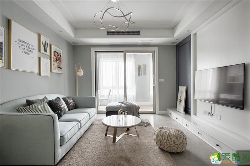 90平米装修案例-简欧风3居室,打造完美和谐之家!