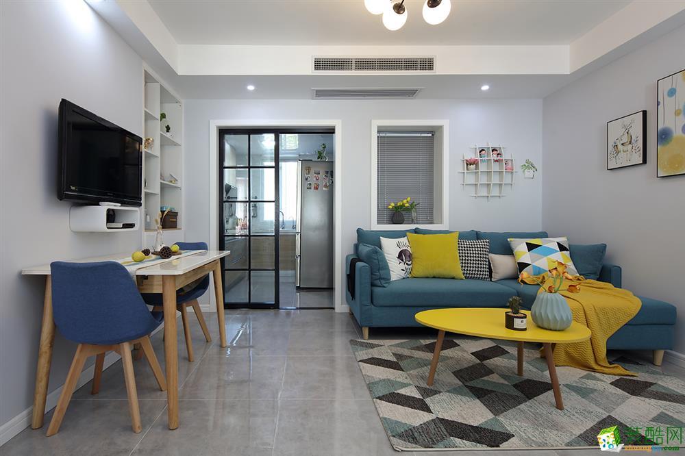 深圳二居室装修案例-70平现代简约风格
