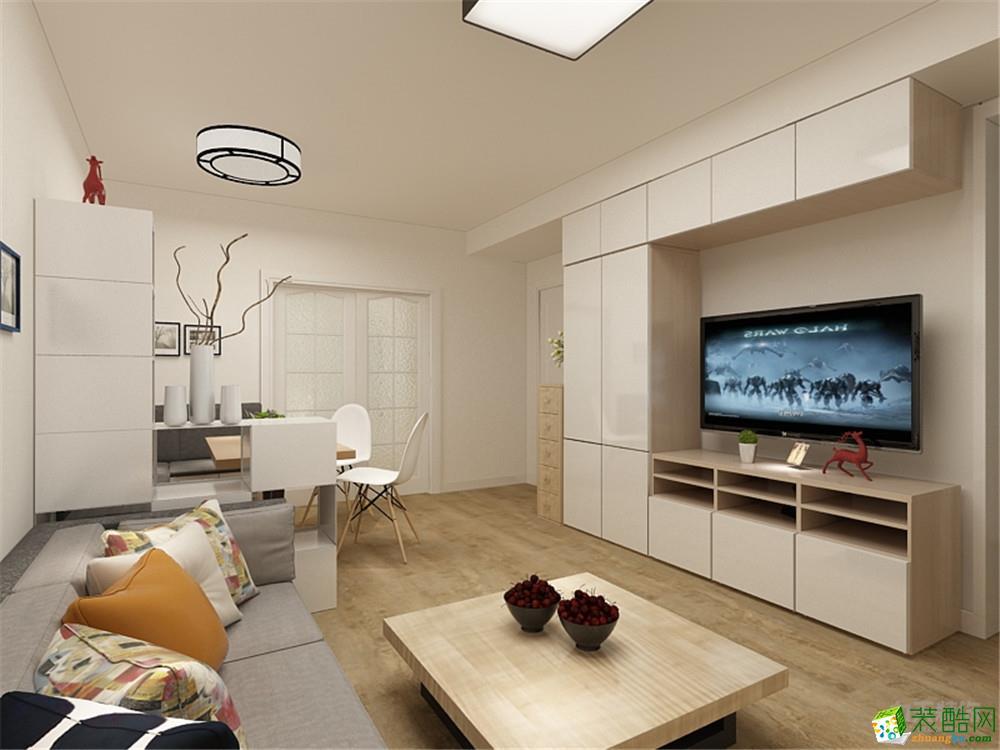太原领域名郡99平米简欧风格两室两厅一卫装修效果图片