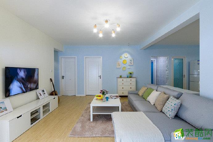 重庆100平米北欧风格两室两厅装修案例效果图