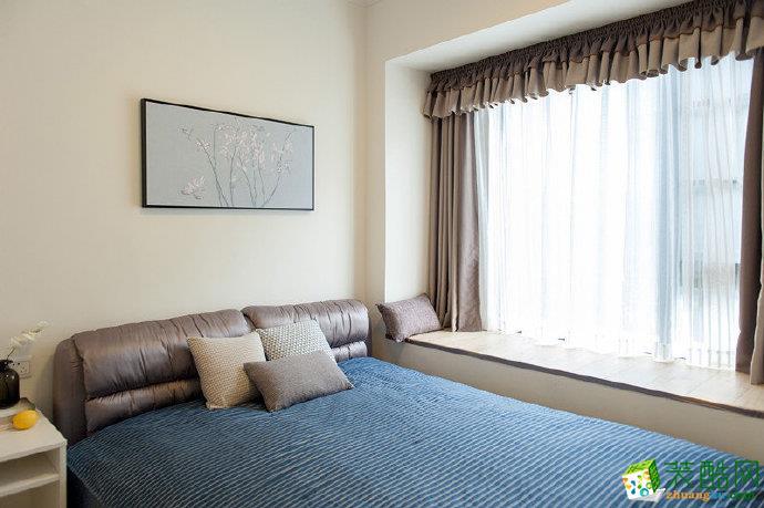 重庆76�O现代简约风两室两厅装修案例效果图