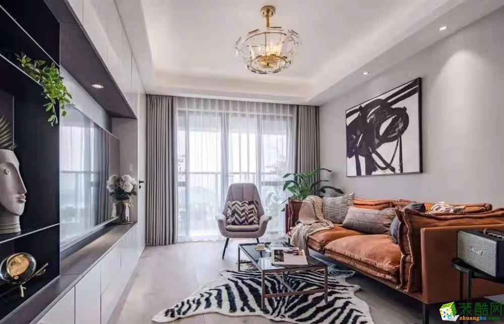 重庆110平米现代风格三室两厅装修案例图片