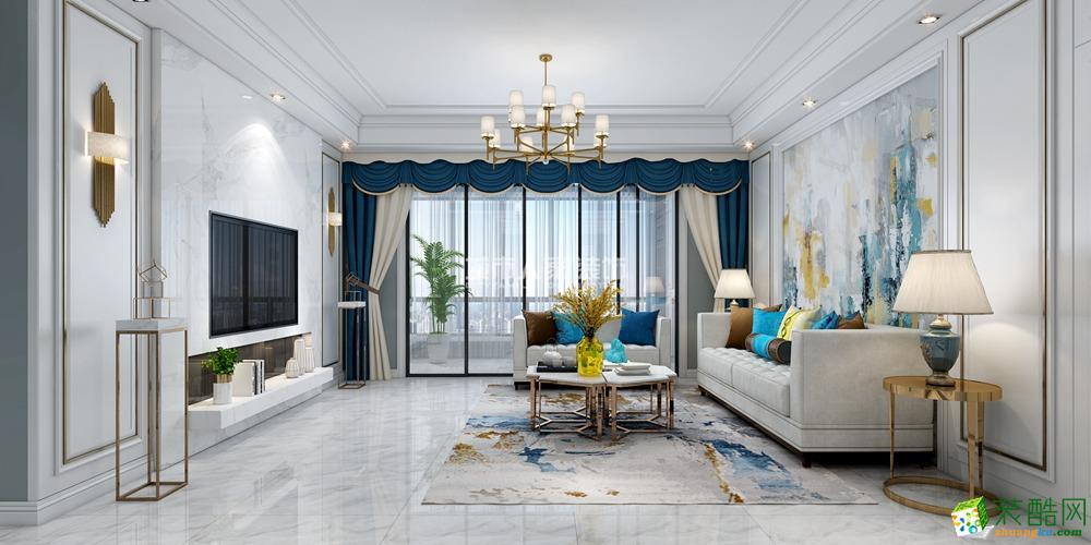 西安萬達天樾185平米歐式輕奢風格四室兩廳兩衛裝修效果圖