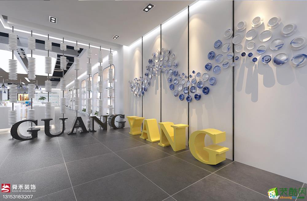 济南300平米展厅装修效果图片