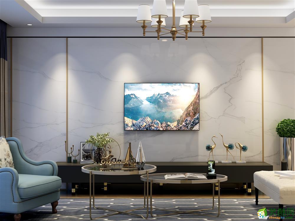西安恒大江灣150㎡現代簡約風格四室兩廳兩衛裝修效果圖