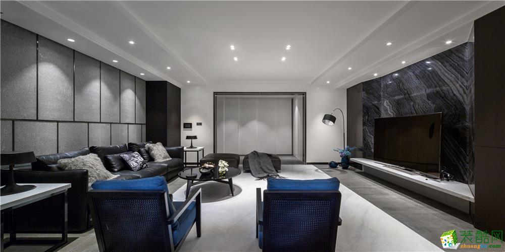 南充200平米現代風格四居室裝修案例圖
