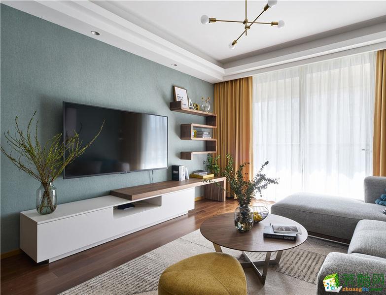 郑州117平三室一厅一卫北欧风格装修案例