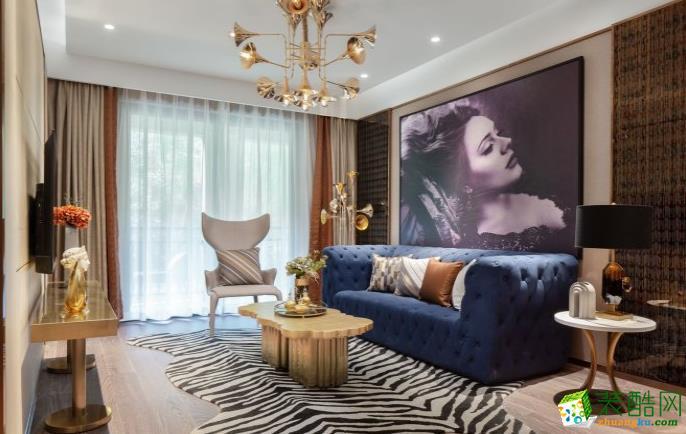 九江132平三室北欧风格装修效果图-艺之峰装饰