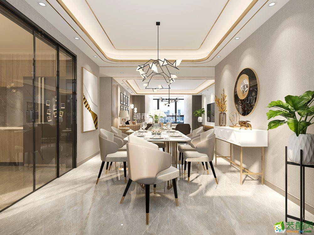 西安江南世纪城180平米现代轻奢四室两厅两卫装修效果图片