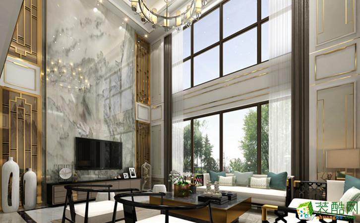 西安紫楹台-450平米新中式别墅装修效果图片