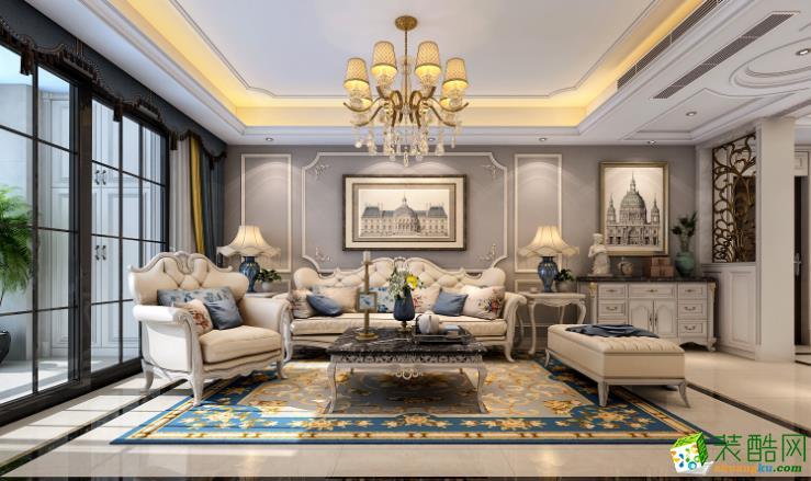 六安130平三室简欧风格装修效果图-领途装饰