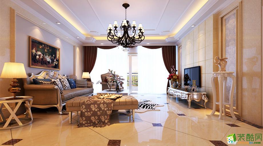 简欧风格二居室88平装修案例图