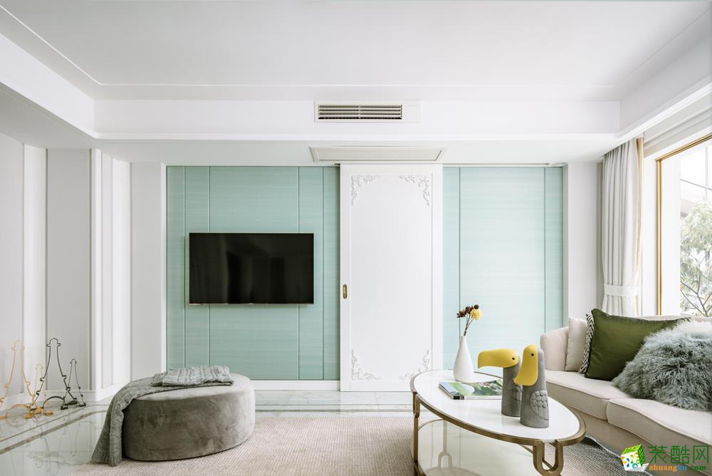 西安?#20301;?#20844;寓106㎡三居室简约风格装修效果图