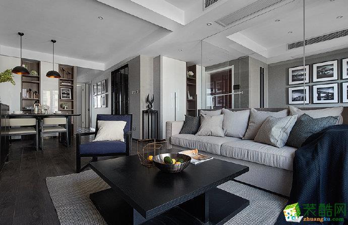 重庆120平米高级灰・现代简约风两室两厅装修案例