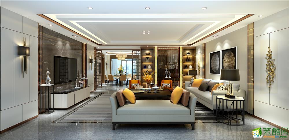 巴中奢享家装饰-137平北欧四居室装修案例效果图