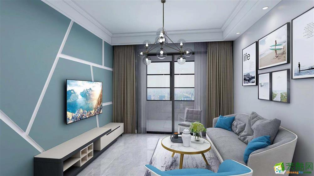 合肥89方两室一厅装修设计效果图