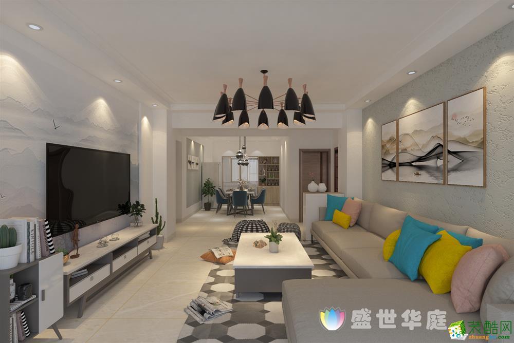 楚雄120平三室两厅现代风格装修效果图