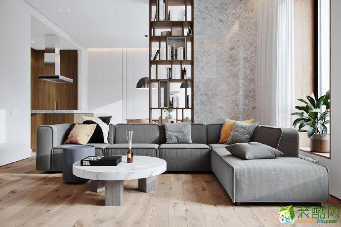 龙湖花漫庭110平米三居室简约风装修案例图