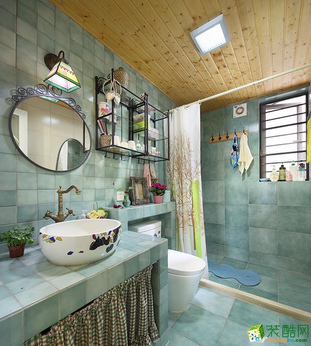 西安95平米田园简约风格三室两厅装修效果图片