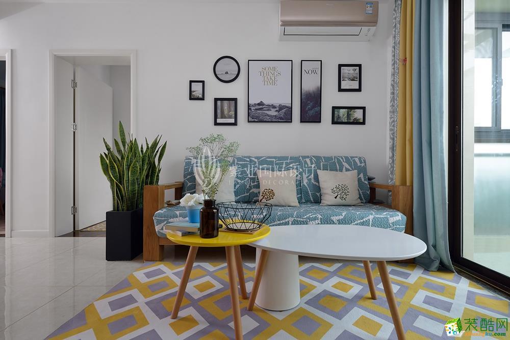 上海72平米是北欧风格三居室装修案例效果图