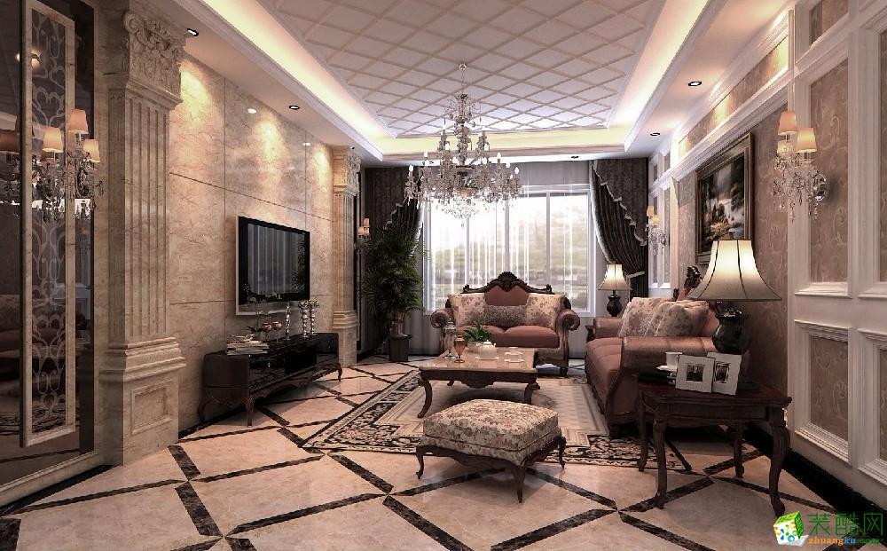 重庆115平米欧式风格三居室装修效果图