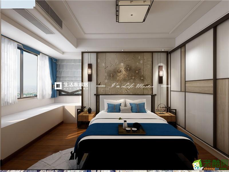 蘇州128㎡新中式四室藍光香江國際設計案例