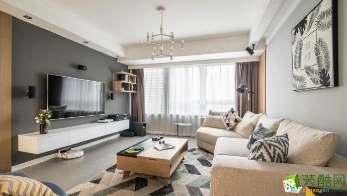 重慶89平米現代風格兩室一廳裝修效果圖-佳天下裝飾