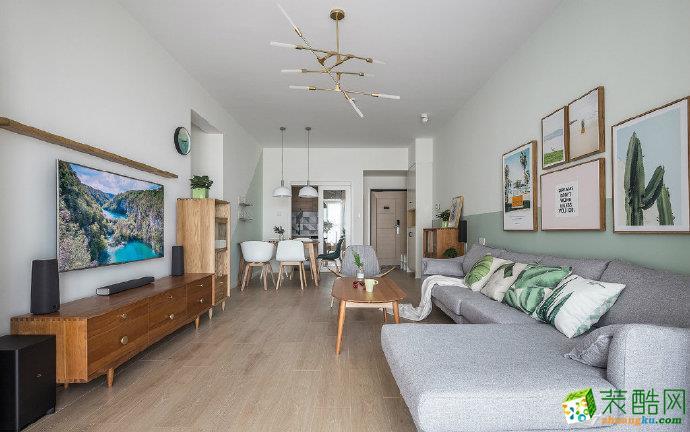 100�O省钱又漂亮的北欧风两室两厅装修效果图