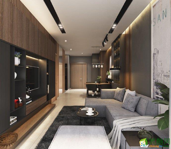 重庆75平米现代风格两室两厅装修案例效果图