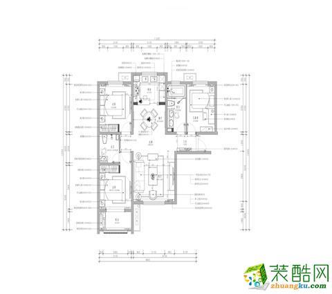 沈阳保利紫荆公馆126平两室欧式风格装修效果图