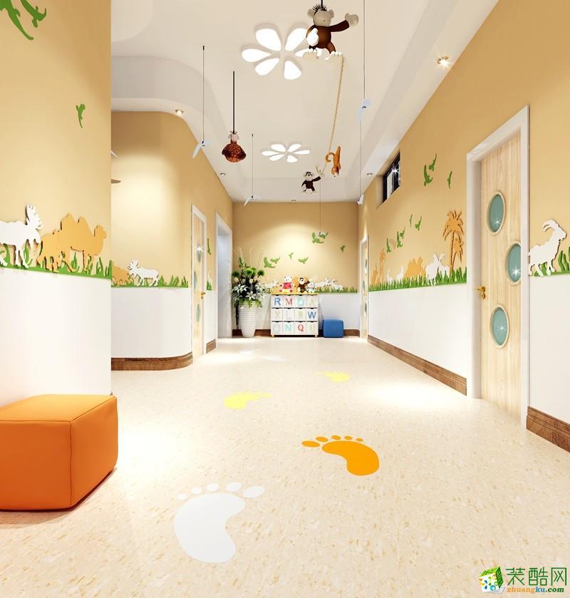 青岛2000平米大型幼儿园装修案例效果图
