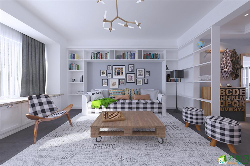 北欧风格三居室125平装修效果图