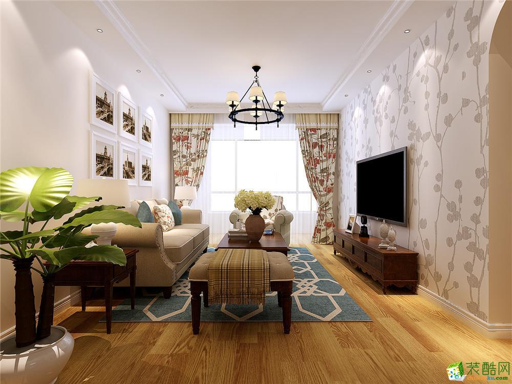 美式风格三居室110平装修效果图