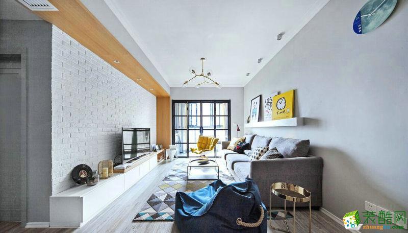成都89平米简约风格三居室旧房翻新