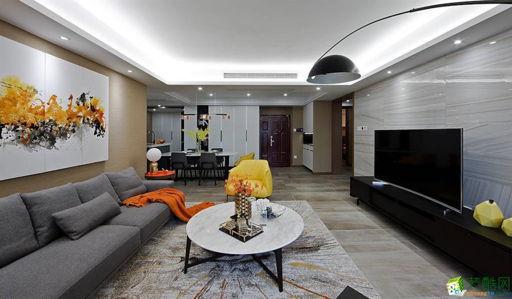 成都112平米现代风格全屋旧房翻新装修