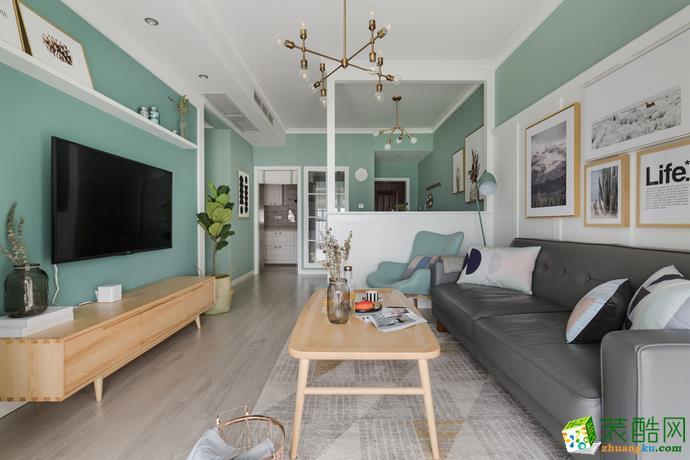 重慶74平米北歐風格兩居室舊房翻新案例圖