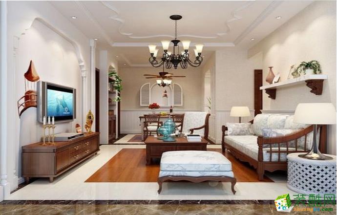抚州90�O三室简约风格装修效果图-原创几米家装饰